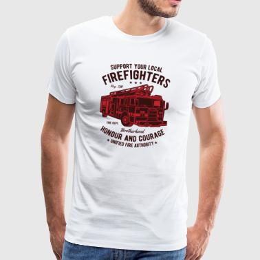 Fire Fighters Truck Honour And Courage - Männer Premium T-Shirt