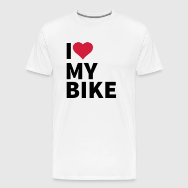 i love my bike - T-shirt Premium Homme