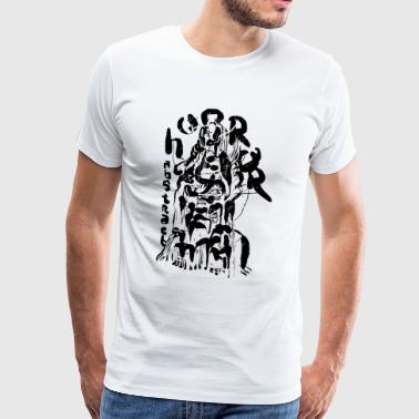 abstract horror - Men's Premium T-Shirt