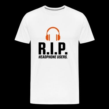 REST IN PEACE TELEFOONGEBRUIKERS HEAD - SIMPLE - Mannen Premium T-shirt