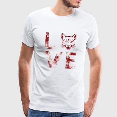 Love for cats / tigers, love - Men's Premium T-Shirt
