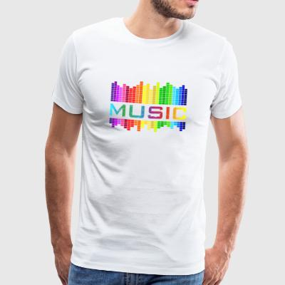 Music Music Equalizer Rainbow Dance Rock Concert - Men's Premium T-Shirt