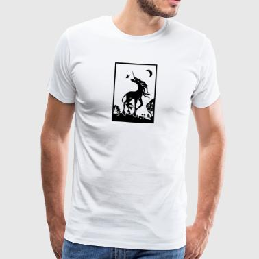 unicorn - Premium T-skjorte for menn