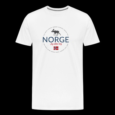 Norway button (Norway - I love you) - Men's Premium T-Shirt