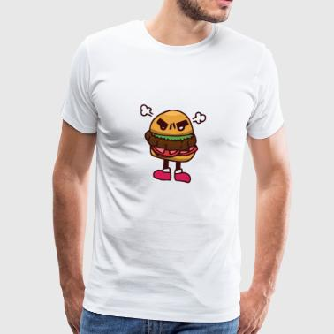 Burger steam drain gift fast food thick fat - Men's Premium T-Shirt