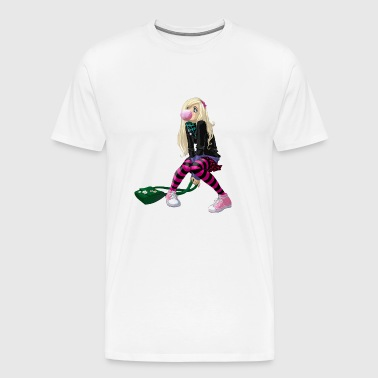 Girl with gum - Men's Premium T-Shirt