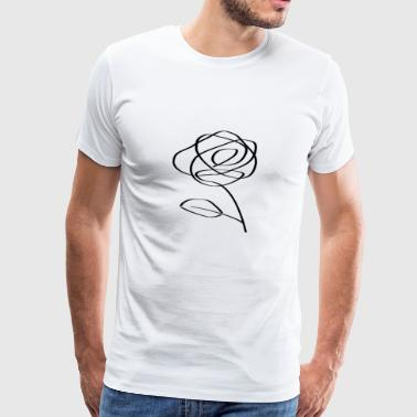 Icon flower black design trendy cool - Men's Premium T-Shirt