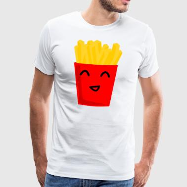 Fries happy fries BBQ gift gift idea - Men's Premium T-Shirt