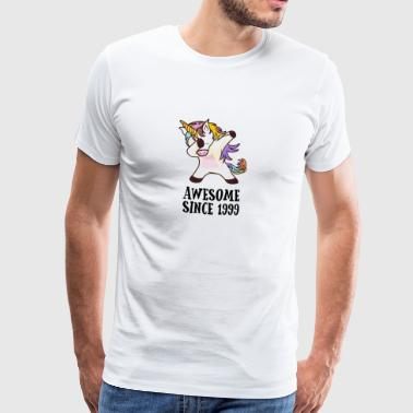 Awesome Since 1999 Dabbing Unicorn 18GB Gift - Men's Premium T-Shirt