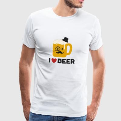 I Love Beer T-shirt - Men's Premium T-Shirt