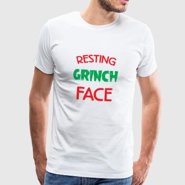 Resting Grinch Face Christmas Xmas Gift - Men's Premium T-Shirt