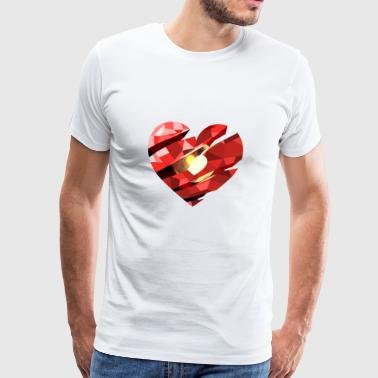 Red Heart Saint-Valentin - T-shirt Premium Homme