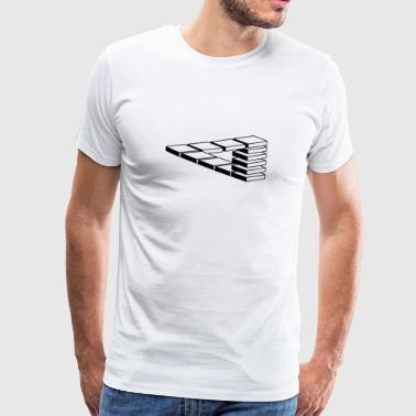 optisk illusion - Herre premium T-shirt