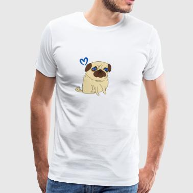 Love Pugs - Love Pugs - Sweet - Blue Eyes - Cute - Men's Premium T-Shirt