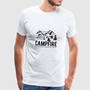Camping outdoor campfire gift idea - Men's Premium T-Shirt