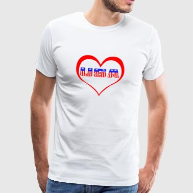 Love USA - Premium T-skjorte for menn