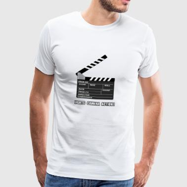 Film studio Licht Camera und Aktion! Film Ab! - Männer Premium T-Shirt