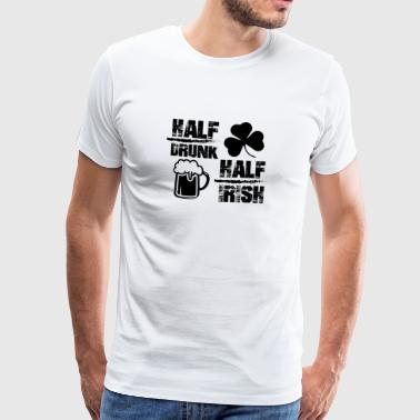 Half drunk helped irish - Men's Premium T-Shirt