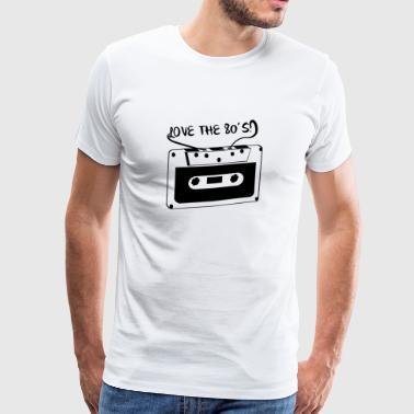 Love the 80´s - Männer Premium T-Shirt