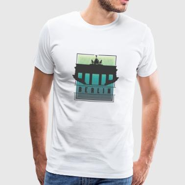 Berlin Brandenburg Gate Gift Travel Silhouette - Men's Premium T-Shirt