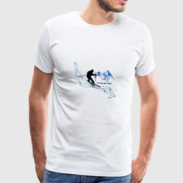 Skiing is my life it's in my genes - Men's Premium T-Shirt