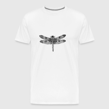 Dragonfly dragonfly drawing insect outline filigra - Men's Premium T-Shirt