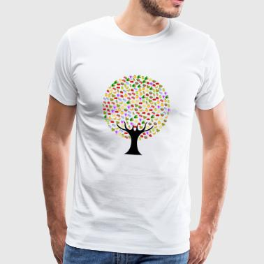 Tree cherry orange plum lemon strawberry grape - Men's Premium T-Shirt