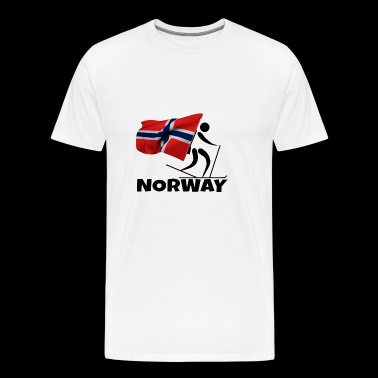 Biathlon with heart in Norway as a gift - Men's Premium T-Shirt