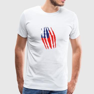 Griffe origine fissures griffe Taiwan png - T-shirt Premium Homme