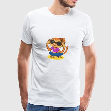 trendy gift idea monkey girl with sunglasses - Men's Premium T-Shirt