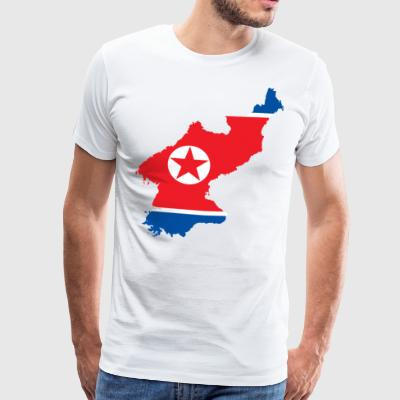 NORTH KOREA T-SKJORTE - Premium T-skjorte for menn