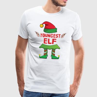 Youngest Elf - Christmas Family Gift Xmas - Men's Premium T-Shirt