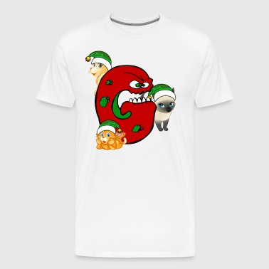 Chat Grinch Gang de Noël - T-shirt Premium Homme