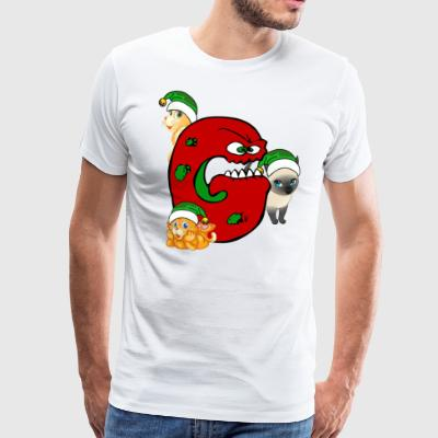 Cat Grinch gear Christmas - Men's Premium T-Shirt