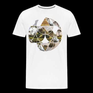 Circle nature idyll relaxation gift - Men's Premium T-Shirt