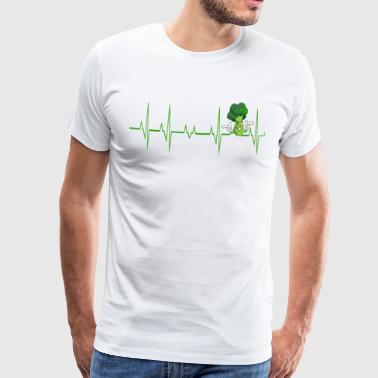 Heartbeat Vegan Brocoli Vegetarian - Men's Premium T-Shirt