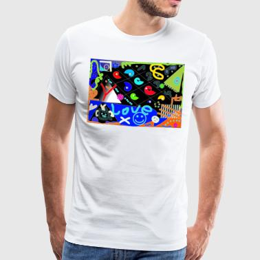 Love-Pop-Art-Design - Männer Premium T-Shirt