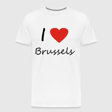 Brussels heart gift idea - Men's Premium T-Shirt