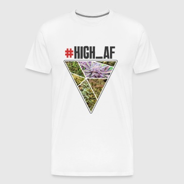 HIGH_AF - High as fuck - Cannabis Dope - Men's Premium T-Shirt