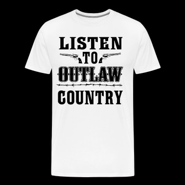 Listen To Outlaw Country - Southern Music - Koszulka męska Premium