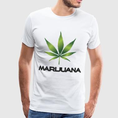 Marijuana with a weed leaf - Men's Premium T-Shirt