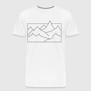 Contour mountain black - Men's Premium T-Shirt