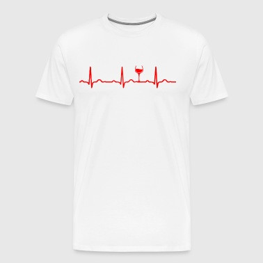 ECG HEARTBEAT WINE red - Men's Premium T-Shirt