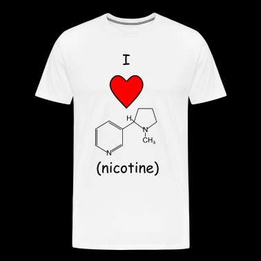 I love Nicotine - Men's Premium T-Shirt