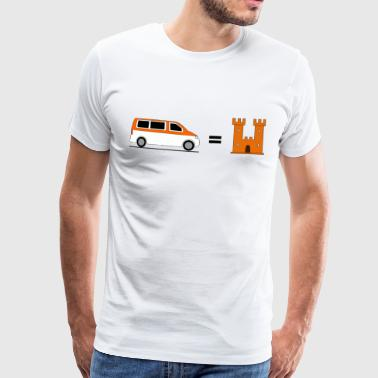 My Bus is my Castle - Orange - Männer Premium T-Shirt
