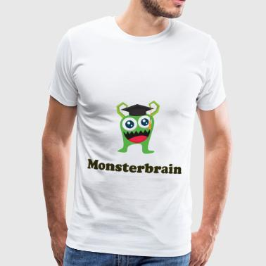 Monster Brain grønn Glubschaugen Graduation Gift - Premium T-skjorte for menn