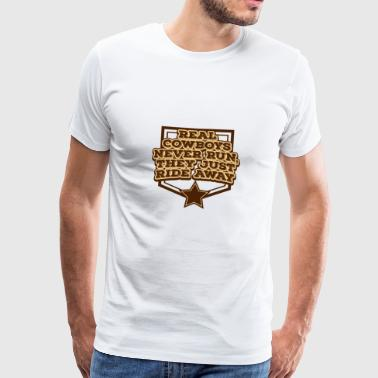 Cowboy, Western, Country Music, Horses, Line Dance - Premium T-skjorte for menn