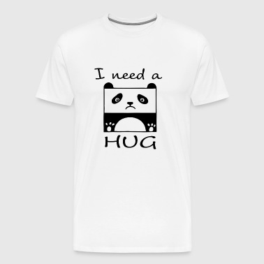 Panda I need a HUG - Men's Premium T-Shirt