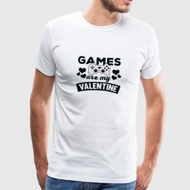 Awesome Games are My Valentine T-Shirt - Men's Premium T-Shirt