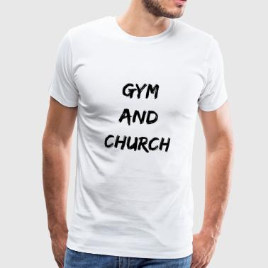 Gym And Church Jesus Christianity Fitness Sport - Men's Premium T-Shirt